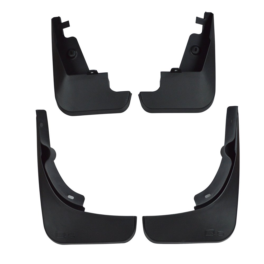 Center Mud Flaps Splash Guards for Audi Q5 2009-2015 Set of 4pcs(Front and Rear)