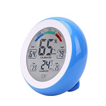 Webla - Higrómetro de interior con termómetro con pantalla táctil, termómetro de control de pantalla