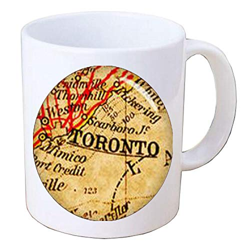 Toronto Map Mug Map Coffee Mug Map Jewelry Travel Coffee Mug Map Map of Canada Map of Toronto,BV064