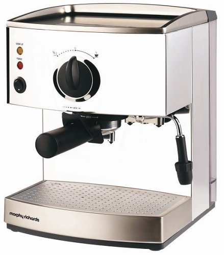 Morphy Richards 47505 Roma Stainless Steel Pump Espresso Coffee