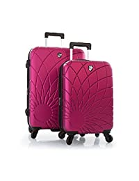 "Heys Solar Spinners 2 Pc Set Lightweight Hard Side Luggage Set - 21"", 26"" (Fuchsia)"