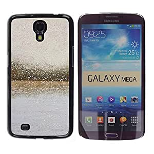 Estuche Cubierta Shell Smartphone estuche protector duro para el teléfono móvil Caso Samsung Galaxy Mega 6.3 I9200 SGH-i527 / CECELL Phone case / / River Glass Raindrops Blurry Grey Su