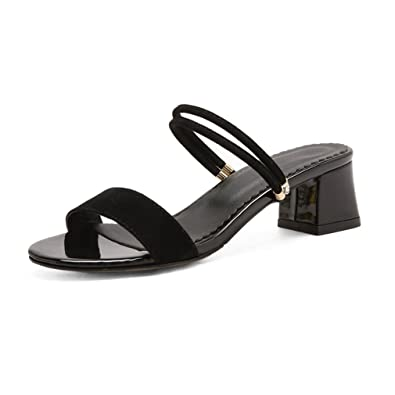 4870ce6414b Image Unavailable. Image not available for. Color  GIY Womens Strappy Low  Heel Platform Slide Sandals ...