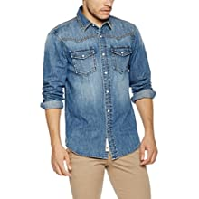 Men's Western Snap Up Denim Shirt