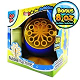 My Bubble Machine | Incredible Battery Operated Indoor / Outdoor High Output Bubble Machine with More Than 500 Bubbles/Minute Output | Convenient Automatic Bubble Blower with AC Adaptor | Blue Yellow