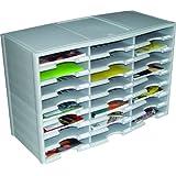 Storex 24-Compartment Literature Organizer/Document Sorter, Grey (61610U01C)