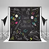 Kate Backdrop Kids Photo Background 8x8ft Blackboard Pattern Back to School Cotton Seamless Booth Shooting Backdrop for Photographer 05160