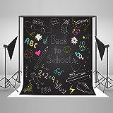 Kate 8x8ft Back to School Backdrop Children Photography Blackboard Pattern Photo Background Cotton Cloth Seamless