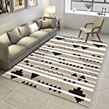 GIY Striped Living Room Area Rugs Soft Rectangular Bedroom 3D Rug Children Kids Carpets Outdoor Indoor Non-Slip Washable Mats Home Decor Runners 1.5' X 2'