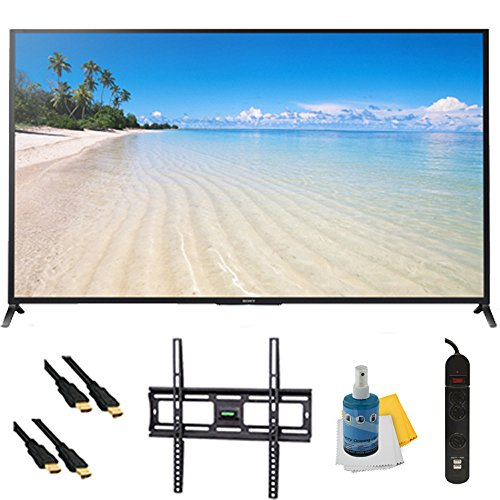 70' 1080p 120Hz Smart 3D LED HDTV Wifi Plus Mount & Hook-Up Bundle - KDL70W850B. Bundle Includes TV, Flat TV Mount, 3 Outlet Surge protector w/ 2 USB Ports, 2 -6 ft High Speed HDMI Cables, Performance TV/LCD Screen Cleaning Kit, and Cleaning Cloth.