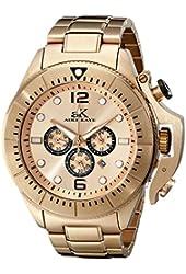 Adee Kaye Men's AK9041-MRG Guardian Analog Display Japanese Quartz Rose Gold Watch