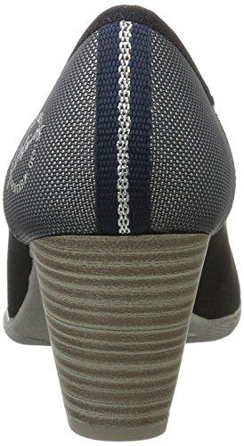 s.Oliver 22405, Zapatos de Tacón para Mujer Azul (Navy Metallic)