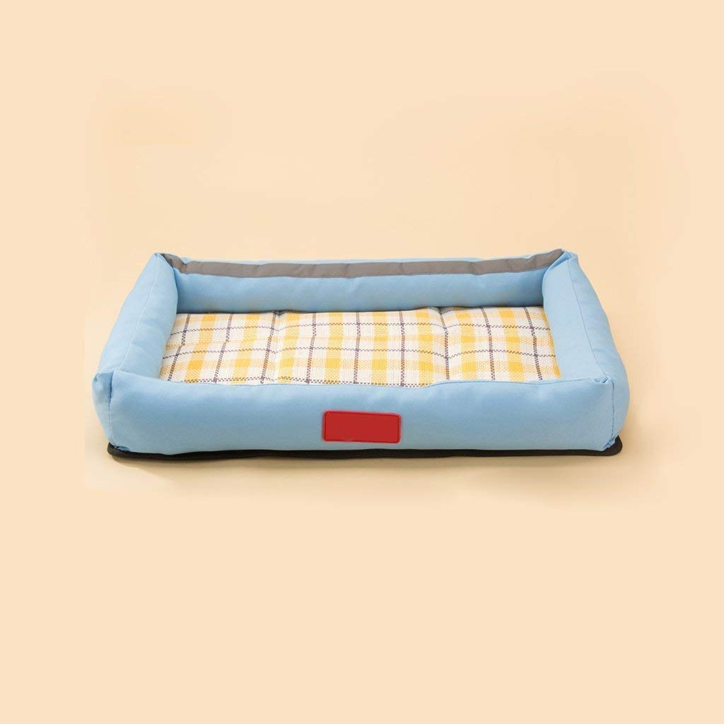 51368 Gorkuor Pet Dog Bed Cat Bed Comfortable Pet Bed Cushion Oxford Cloth Summer bluee (Size   51  36  8)