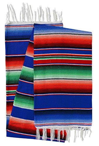 Cheap  El Paso Designs Mexican Serape Blankets Bright & Colorful Saltillo Serape Blanket..