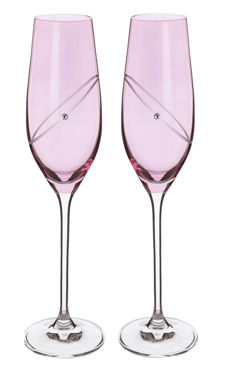 Dartington Crystal Ruby Flute - Celebration Glitz Flutes ST2663/5/RU/P