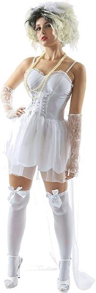 ORION COSTUMES Disfraz de Novia de los años 80 Música para ...