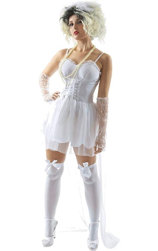 ORION COSTUMES Disfraz de Novia de los años 80 Música para Mujeres ...