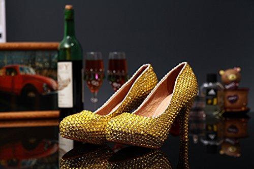 Heel 12cm Or Semelle compensée EU 35 femme Gold Miyoopark cPqwgpROq