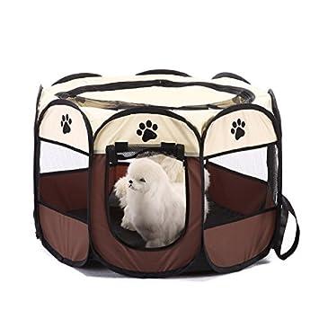 Plegable de mascotas perros tienda de campaña achteckiger de gato mascotas Valla de perros förderer de
