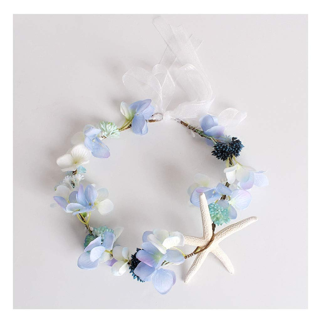 Wreath Flower Headwear Children's Jewelry Wearing Korean Flower Girl Hair Accessories Performance Accessories (Color : B)
