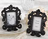 Black Baroque Elegant Place Card Holder Photo Frame [SET OF 12]