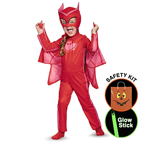 [Pj Masks Owlette Classic Toddler Costume Halloween Trick or Treat Safety Kit Small] (Trick Or Treat Costumes For Adults)