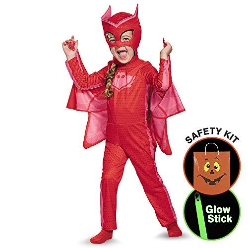 [Pj Masks Owlette Classic Toddler Costume Halloween Trick or Treat Safety Kit Small] (Pj Masks Owlette Halloween Costume)