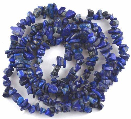 Chip Lazuli Lapis Blue (1 X NUGGET BAROQUE CHIP BLUE LAPIS LAZULI 3X5-5X10MM GEMSTONE BEADS 36