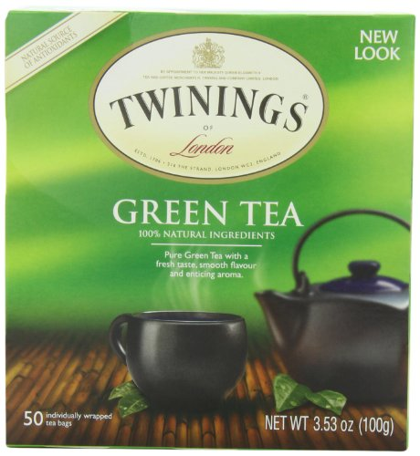 Twinings Thé vert, Teabags 50-Count (Pack de 6)
