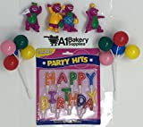 A1BS Cake Decoration Barney Birthday Cake Decoration Party Favors Figurine Toys