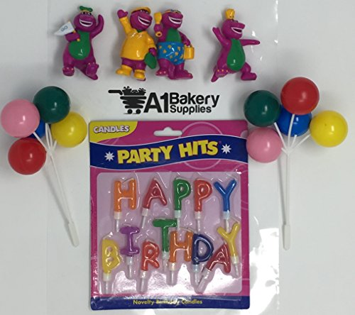 A1BS Cake Decoration Barney Birthday Cake Decoration Party