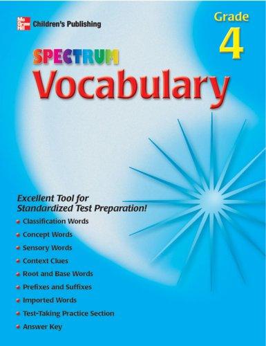 Download Spectrum Vocabulary, Grade 4 PDF