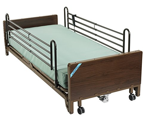 Drive Medical Ultra Light Plus Full-Electric Low Bed, Brown, 36