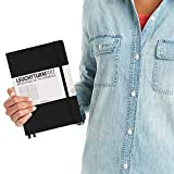 Leuchtturm1917 Medium A5 Squared Hardcover Notebook (Black) - 249 Numbered Pages