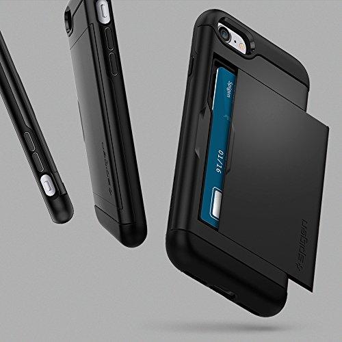 buy popular 0e1c0 7d7c5 Spigen iPhone 7 Case, [Slim Armor CS] Card Holder [Black] Slim Fit Dual  Layer Protective with Card Slot Holder Wallet Case for iPhone 7 (2016) - ...