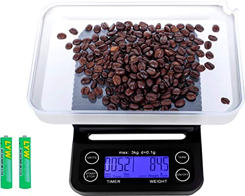 Coffee Scale with Timer,Coffee Scale with Timer Small,Pour Over Coffee Scale Timer,Coffee Scales with Timer,Espresso Scale with Timer(Batteries Included)