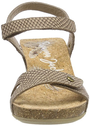 Piedra Sandales Bout Femme Panama Snake Julia Jack Ouvert Beige wUpTt