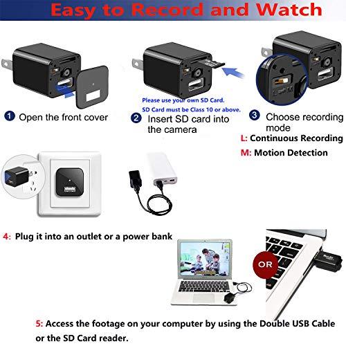Spy Camera - Hidden Camera - Premium Pack - HD 1080P - Motion Detection - USB Hidden Camera - Surveillance Camera - Mini spy Camera - Nanny Camera - Best Spy Camera Charger - Hidden Camera Charger