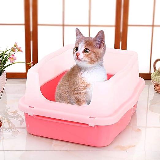 Jlxl Pet Cat Toilet Semi-Cerrado, Caja Arena Gatos Desmontable ...