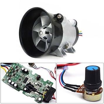 Cargador turbo turbina eléctrica para automóvil, 12 V, ventilador + ESC: Amazon.es: Coche y moto