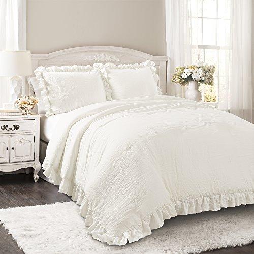 Lush Decor Lush Décor Reyna 3 Piece Comforter Set, King, Wh