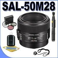 Sony 50mm f/2.8 Macro Lens for Sony Alpha Digital SLR Cameras + Filter Kit + Lens Pen Cleaner + lens Cleaning Kit Accessory Bundle
