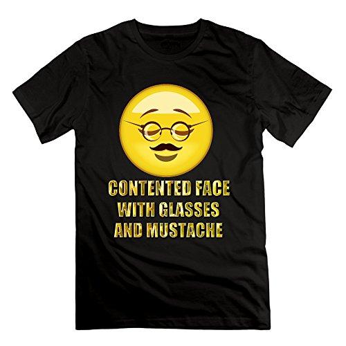 saxon13-mans-emoij-glasses-special-tee-black-size-m