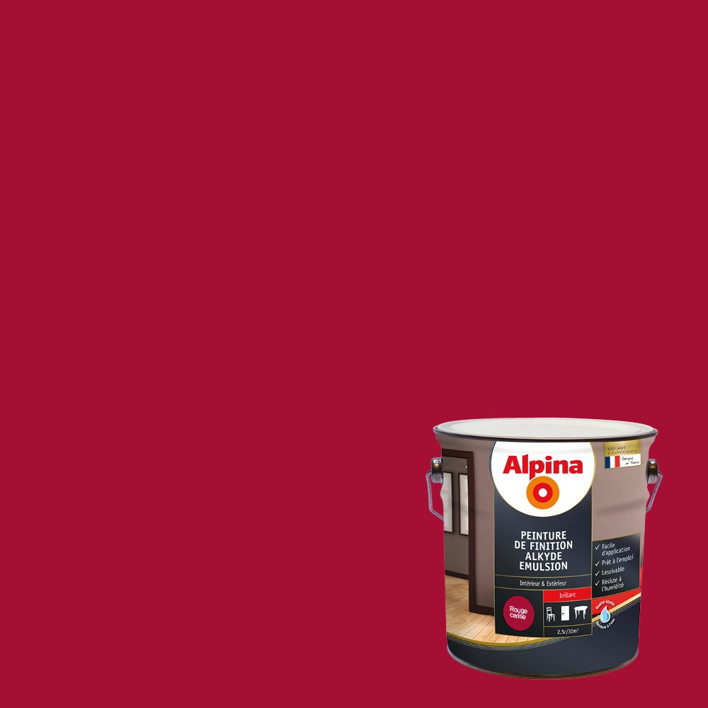 Alpina Peinture De Finition Alkyde émulsion Satin Blanc 05l 6m²