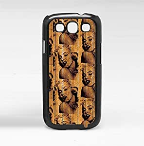 Vintage Marilyn Monroe Tan and Black Pattern Hard Snap on Phone Case (Galaxy s3 III) by supermalls