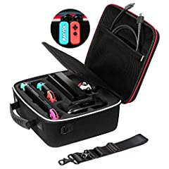 Deluxe Carrying Case for Nintendo Switch by Rayvol  Conveniently store and carry the Nintendo Switch System with Rayvol Nintendo switch carrying case. Take the complete Switch system with you, whether you are heading to a friend's house or tr...