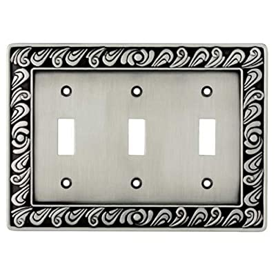BRAINERD 64054 Paisley Triple Switch Wall Plate / Switch Plate / Cover
