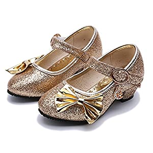 Kikiz Little Girl's Adorable Sparkle Mary Jane Princess Party Dress Shoes
