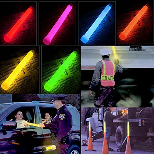 "Meanhoo 6"" Snap Light Military Grade Emergency Survival camping,hiking&outdoor Glow Light Sticks Party Fun Safety 3 Pcs"