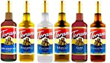 Torani Hawaiian Syrup Variety Pack of 6 - Macadamia Nut, Pineapple, Coconut, Mango, Guava & Passion Fruit (750 ml ea bottle)